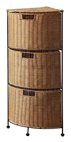 (4D Concepts 161054 3 Tier Wicker Corner Drawer, 3 Drawer )