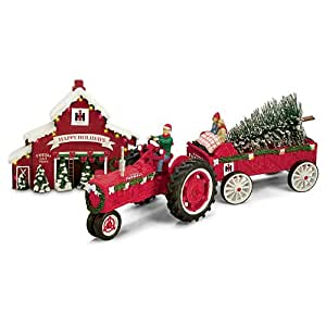 75 Years Of Farmall Red Anniversary Edition Christmas Figurine Set by Hawthorne Village