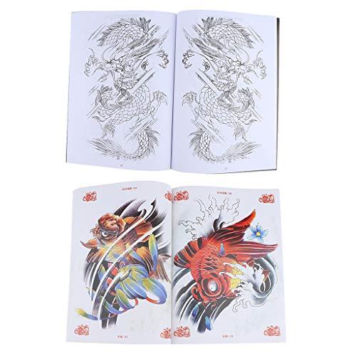 Pack of 2, Body Art Tattoo Books