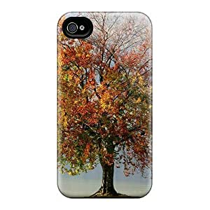 Protection Case For Iphone 4/4s / Case Cover For Iphone(tree On A Lake Wds)