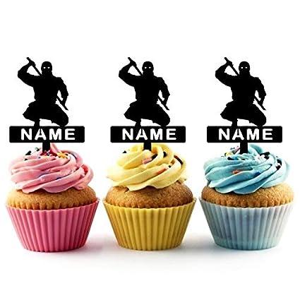 Personaliza su nombre Japan Ninja Cupcake Cake Topper para ...