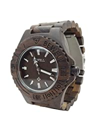 Handmade Wooden Watch Made with Natural Sandalwood in Brown - HGW-059