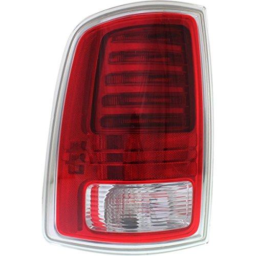 DAT Replacement LED Tail Light Assembly Chrome Left Driver Side 13-17 RAM Pickup Laramie Longhorn Models CH2800203