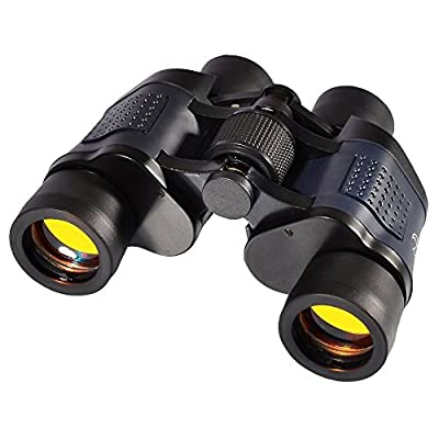 Bringsine Binocular - Sharp View, Quick Focus, Zoom Vision Optical Telescope With Wide Angle for Outdoor Birding Camping Golf Finishing Traveling Sightseeing, Folding roof binoculars with case (Black)