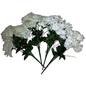 MM TJ Products Artificial Roses Bush: 7 stems Pack of 4 108