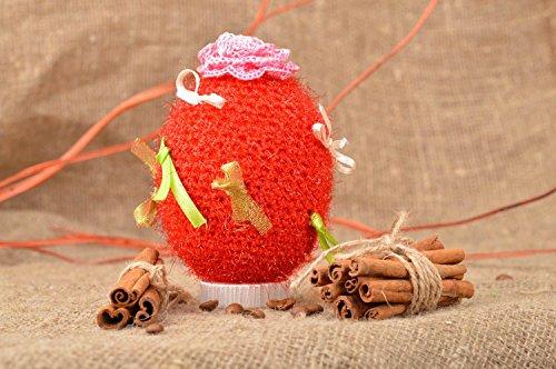 Red Decorative Crocheted Easter Egg Handmade Beautiful Designer Home Ideas