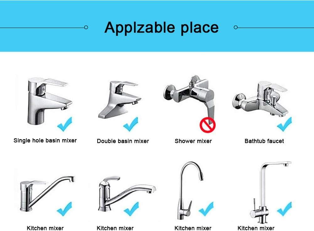 Leikance Embout de robinet rotatif /à 360/° pour robinet de cuisine Filtre anti-/éclaboussures Accessoires de cuisine