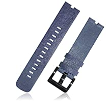 XIEMIN 22MM Leather Strap Watch Band for Motorola Moto 360 1st gen Smart Watch with Free Screen Protector and Spring Bar Jeweler Tool(Dark Blue)