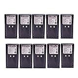 10 Pack Maxtop AKCM0017-1800-D KNB-16 KNB-16A KNB-17 KNB-17A KNB-22 KNB-22N Battery for Kenwood TK-190 TK-280 TK-380