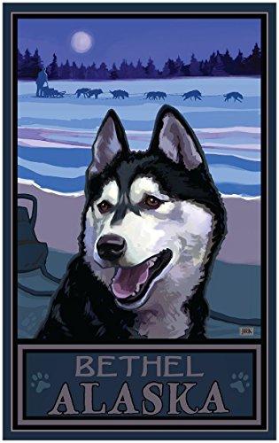 Bethel Alaska Sled Dog Heritage Travel Art Print Poster by Joanne Kollman (30