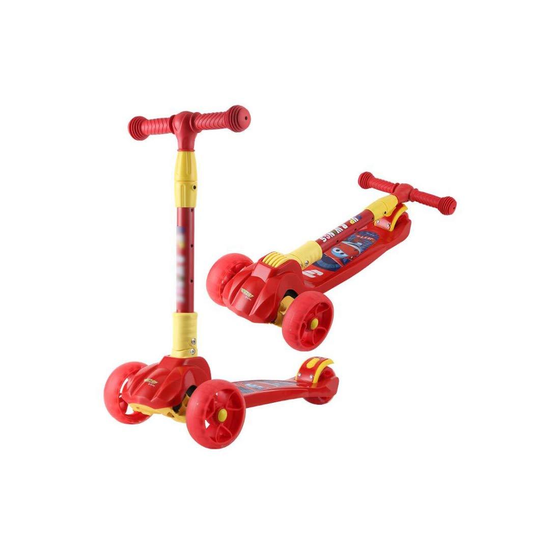 【ふるさと割】 TLMYDD Red) 折りたたみスクーター赤ちゃん子供スクーターワンボタン折りたたみタックル玩具、58×26×77.5センチ 子供スクーター (色 : (色 Red) B07NRSJZZG B07NRSJZZG Red, ロータスパーツセンター:b45437fd --- a0267596.xsph.ru
