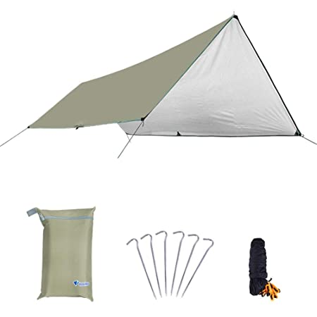 Envisioni Camping Tent Camping Accommodation Beach Tent Waterproof UV Family Tent Outdoor Painted Silver Canopy Camping Hiking Family Beach Can Build Simple Mat Tent