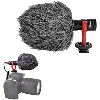 Super-Cardioid Shotgun Video Microphone- BOYA BY-MM1 Universal Compact On-Camera MiniRecording Mic Directional Condenser for IPhone Android Smartphone Mac Tablet YoutubeDSLR Camera Camcorder