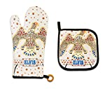 Midsouth Products Elvis Presley Oven Mitt & Pot Holder Set White Jumpsuit