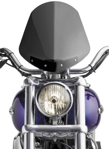 National Cycle Light Tint Gladiator Windshield with Chrome 1-Piece Top Clamp Mount for Dyna, FX, FXR and Softail N2700
