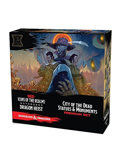 WizKids D&D Icons of The Realms: Waterdeep Dragon Heist City of The Dead Premium Set (Devil In The White City Plot Summary)