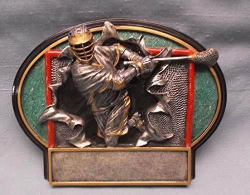(Lacrosse Full Color 3D Resin Plate Trophy Award)