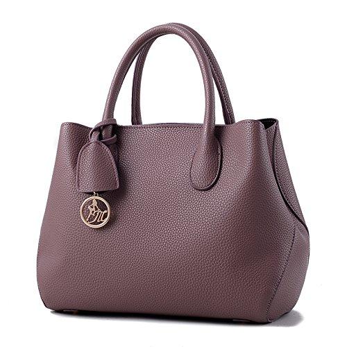 Señoras Hombro Bolso Bolso De Roja Bolsa Gran Señoras Purple Negro De taro Capacidad GUANGMING77 gdFWcg