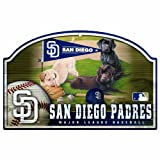 MLB San Diego Padres 11-by-17 Wood Sign Traditional Look
