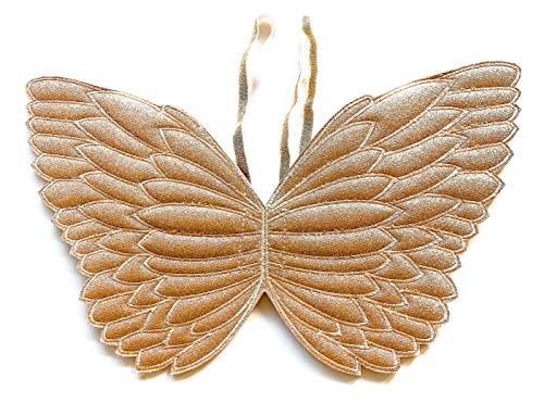 Little Girl Costume Fairy Wings (Gold Glitter) (Angel Hologram)