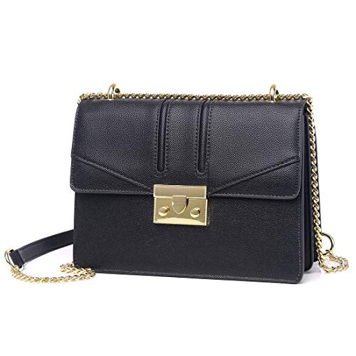 Women's Small Crossbody Bags Satchel Purses Shoulder Bags with Chain Strap,MC9025 Black