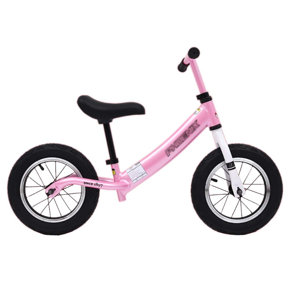 Bicicletta Senza Pedali Balance Bike - Toddler Training Bicycle per Bambini 2, 3, 4, 5 e 6 Anni - No Pedal Push Bikes (colore   rosa)