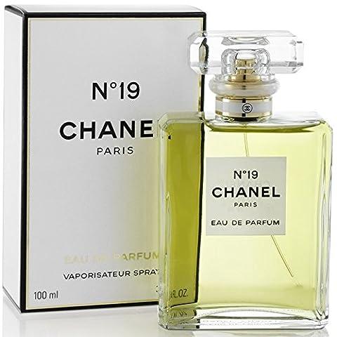 Chânel No 19 Poudre Eau De Parfum Spray for Woman, EDP 3.4 fl oz, 100 ml - Chanel Green
