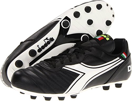 (Diadora Soccer Men's Brasil Classic MD PU Soccer Cleat,Black/White,10 M)