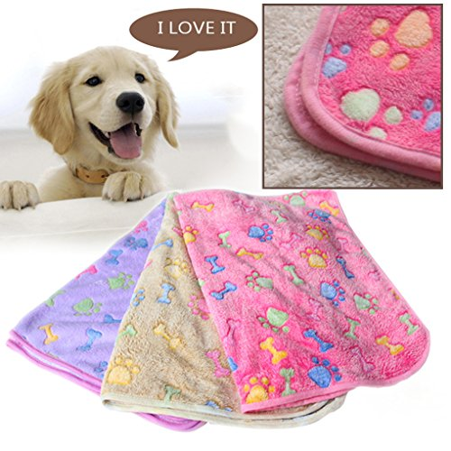 M-Egal-Warm-Pet-Mat-Bone-Print-Cat-Dog-Puppy-Fleece-Soft-Blanket-Bed-Cushion