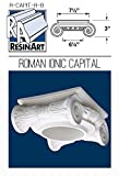 Roman Ionic Capital for Hollow Column - M Size - Composite Resin - Unfinished - Paint Ready - Load Bearing - Dimensions In Images/Details