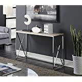 Convenience Concepts Designs2Go Belaire Console Table, Chrome