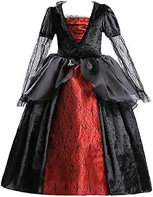 ELSA & ANNA® Princesa Halloween Disfraz Vampiro Traje Parte Las Niñas Halloween Vestido de Vampiro (Girls Princess Fancy Dress) ES-HAL-VAM01 (2-3 ...