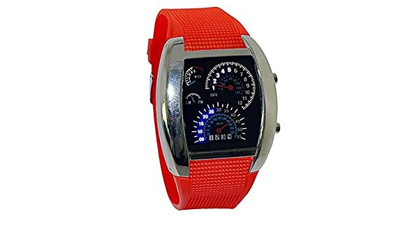Amazon.com: Wristwatch - TOOGOO(R)LED wristwatch red car dashboard: Watches