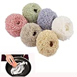 Dushi Nano Fiber Dish Scrubber Non-Scratch Scouring Pads for Non-Stick Cookware Scourer, Assorted