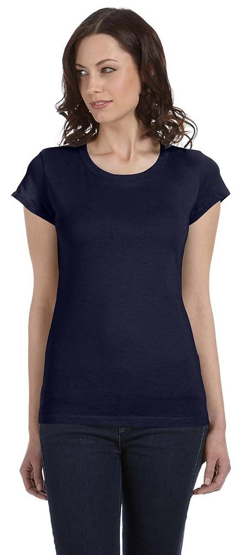 Bella + Canvas Womens Sheer Jersey Short-Sleeve T-Shirt (B8101) MIDNIGHT
