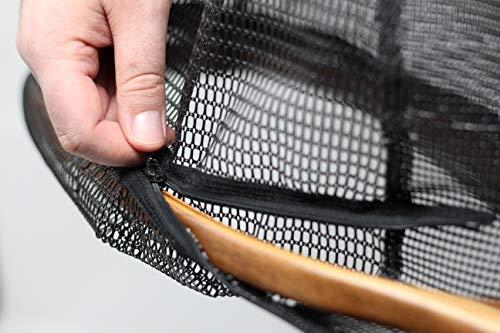 Fishing Net Bag - Measure Net Zip-On Replacement Rubber Net Bag - Medium - 40 Inch Circumference - Flyfishing, Bass, Trout, Landing Net Bag