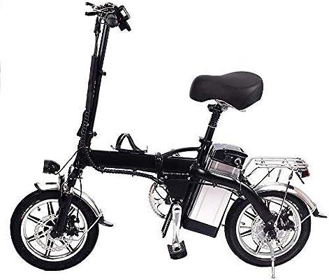 Bicicleta eléctrica Plegable de 14 Pulgadas, Bicicleta eléctrica ...