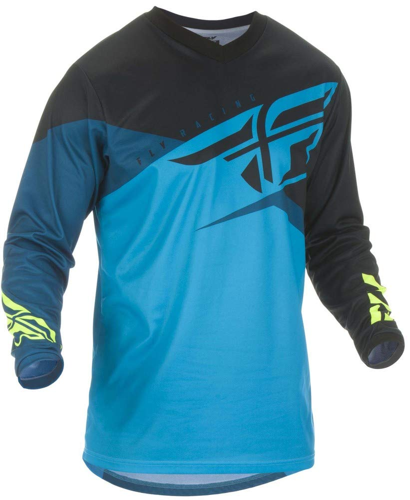 Fly Racing 2019 Youth F-16 Jersey (Large) (Blue/Black/HI-VIZ) by Fly Racing