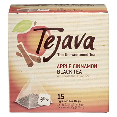 Tejava Apple Cinnamon Black Tea Bags, 15 Tea Bagsper Box, Award-Winning Tea, Unsweetened, Individually Packaged Pyramid Bags, 100% Natural