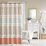 Designer Shower Curtains Fabric Madison Park Dawn Shower Curtain, 72x72, Coral