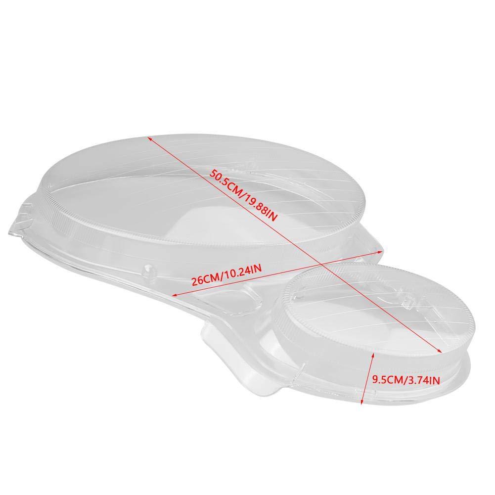 Faro cubierta tapa lente transparente para faro para Benz W211 E350 // 300//200 2002-2008 L un par de cubiertas para faros delanteros R