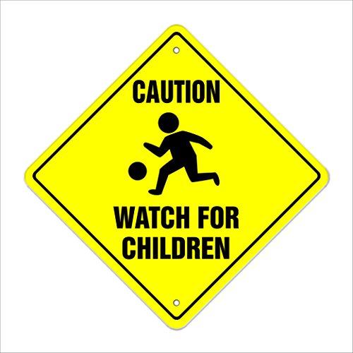Caution Watch For Children Crossing Sign Zone Xing | Indoor/Outdoor | 12