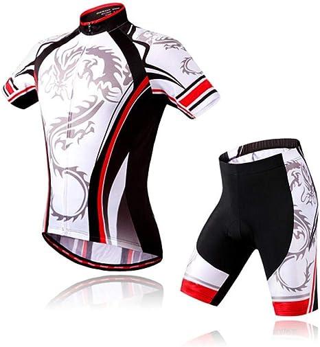 Bib Shorts Kit Night Wolf Bike Clothing Set Men/'s Bike Jersey /& Padded Cycling