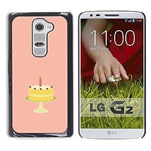 Qstar Arte & diseño plástico duro Fundas Cover Cubre Hard Case Cover para LG G2 / D800 / D802 / D802TA / D803 / VS980 / LS980 ( Birthday Cake Sugar Sweets Candy Art)