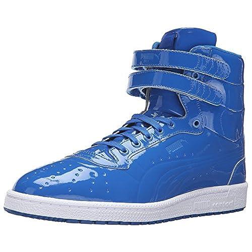 PUMA Mens Sky Ii Hi Patent Emboss Fashion Sneaker       Puma Royal       12 M US