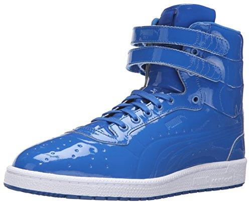 Puma Sky II Hi brevetto Emboss Uomo Blu Vernice Pelle hochges chlos Sener Sneakers