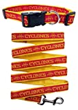 Iowa State Cyclones Nylon Collar and Matching Leash for Pets (NCAA Official by Pets First) Size Large