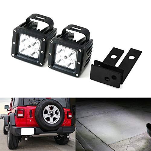 iJDMTOY Rear Bumper Searchlight Reverse LED Pod Light Kit Fo