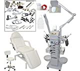 17 in 1 Multifunction Diamond Micro Dermabrasion Facial Machine & Fully Adjustable Hydraulic Massage Bed Chair Table Package Salon Spa Beauty Equipment