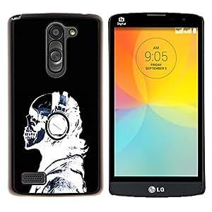 "Be-Star Único Patrón Plástico Duro Fundas Cover Cubre Hard Case Cover Para LG L Prime / L Prime Dual Chip D337 ( Auriculares Esqueleto Enfriar Rayos X"" )"
